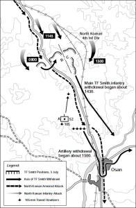 Battle of Osan Map